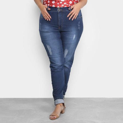Imagem de Calça Jeans Xtra Charm Plus Size Skinny + Cinta Modeladora Feminina