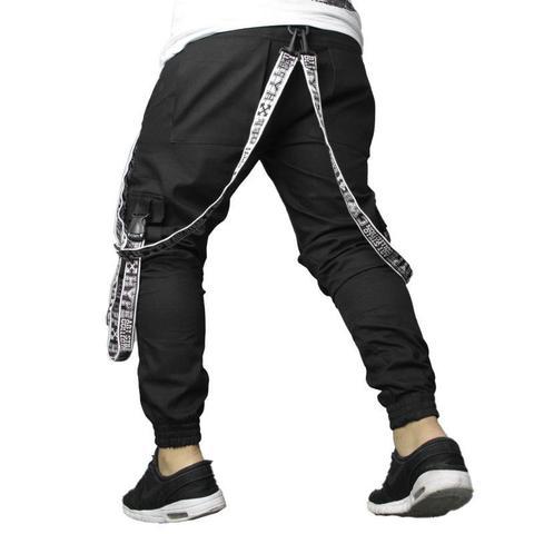 Imagem de Calça Jogger Preta Masculina Trend Suspenders Tracks BRANCA