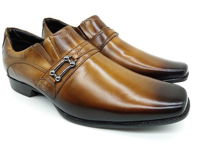 Imagem de Calçado masculino kéffor em couro castanho linha istambull new