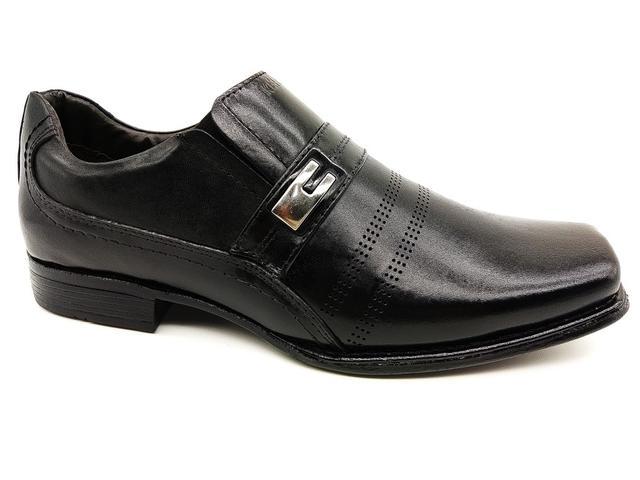 Imagem de Calçado masculino kéffor em couro preto linha metrópole new