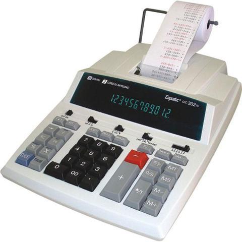 Imagem de Calculadora Bobina 12 Dig CIC 302 TS Bege Impressão Menno