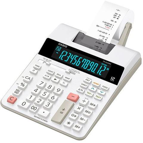 Imagem de Calculadora Casio 12 Dig Com Bobina e Display Lad Branca FR-2650RC