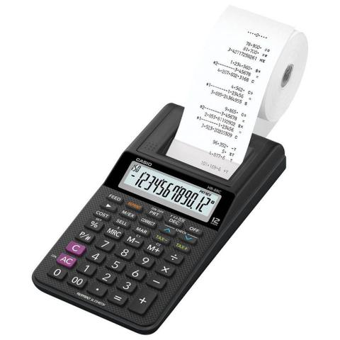 Imagem de Calculadora Casio Hr-8rc 12 Dígitos Com Bobina - Preto