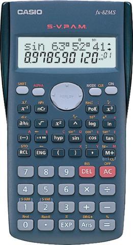 Imagem de Calculadora científica 12 dígitos fx-82ms-ms-sc4 dt cinza, 240 funções display grande