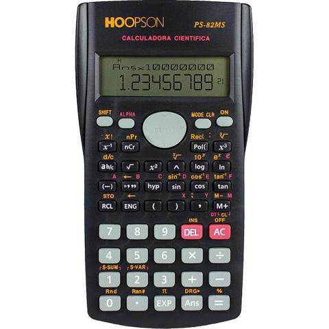 Imagem de Calculadora Cientifica 12 Digitos Hoopson PS-82MS Preta