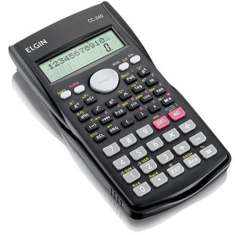 Imagem de Calculadora Científica 240 Funções Com Tampa Protetora Cc240 Elgin