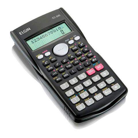 Imagem de Calculadora Cientifica Elgin, 240 Funções, 12 Digitos, Display 2 Linhas - 42cc24000000