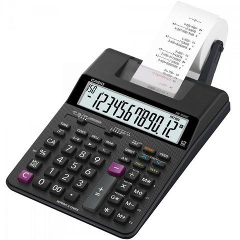 Imagem de Calculadora com Bobina 12 Dígitos Bivolt HR100RC Preta CASIO