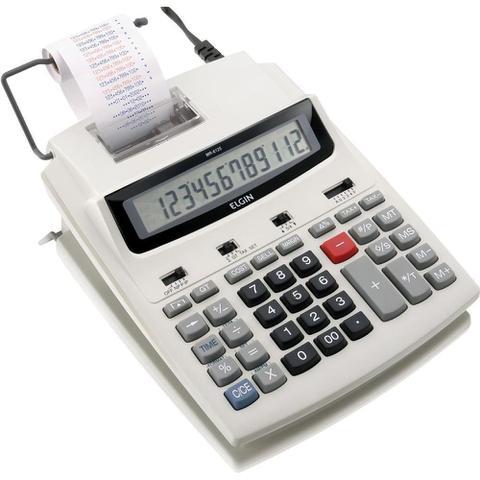 Imagem de Calculadora Com Bobina 12 Digitos MR-6125  Elgin.