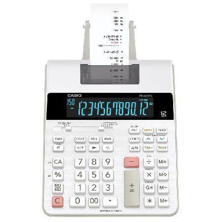 Imagem de Calculadora com Bobina, Display LCD, 2.0 Linha , com Relógio e Calendario, FR-2650RC-B-DC Branca
