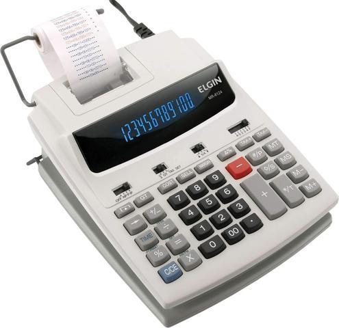Imagem de Calculadora de Mesa c/ Visor, Bobina e 12 Dígitos - MR6124 - Elgin