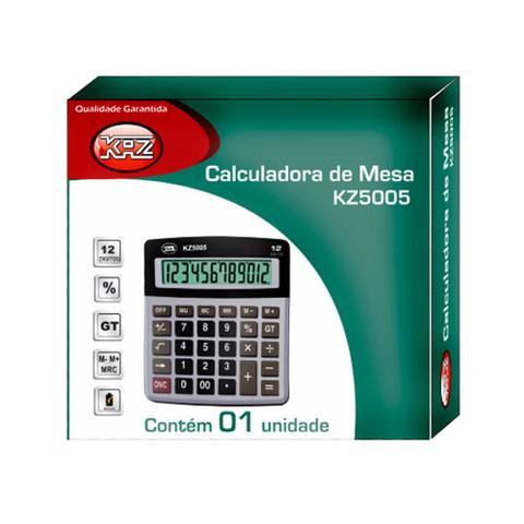 Imagem de Calculadora De Mesa Com 12 Dígitos Kz5005