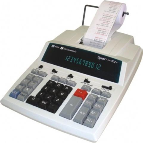 Imagem de Calculadora de mesa menno copiatic cic 302 ts com impressora