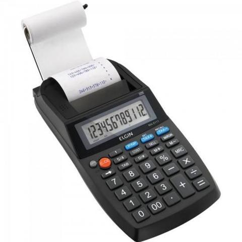 Imagem de Calculadora Eletrônica de Mesa Elgin MA 5111 12 Dígitos Visor LCD c/ Bobina Velocidade de Impressão 2,7 Linhas/segundo