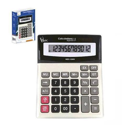 Imagem de Calculadora eletrônicas de mesa 12 dígitos