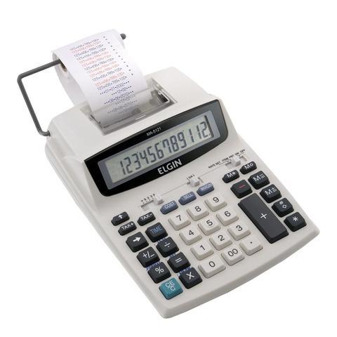 Imagem de Calculadora Elgin MA5121 Com Bobina 12 Dígitos Impressão Bicolor