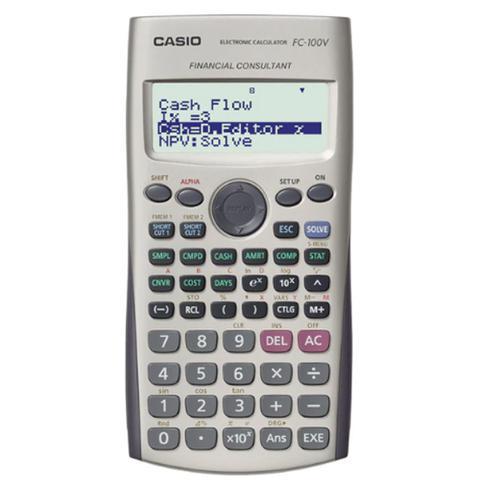 Imagem de Calculadora Financeira Casio Digital FC-100V - Cinza