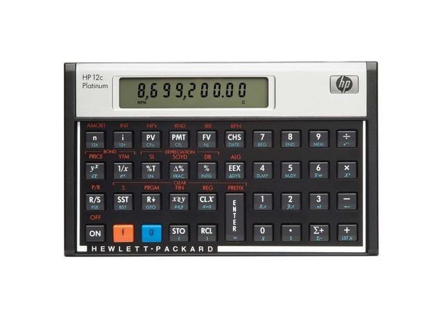 Imagem de Calculadora Financeira Hp 12C Platinum 130 Funções