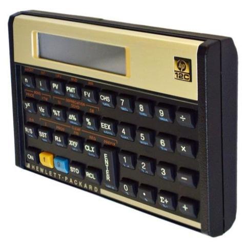 Imagem de Calculadora Financeira / HP / 12C / Português - Dourada