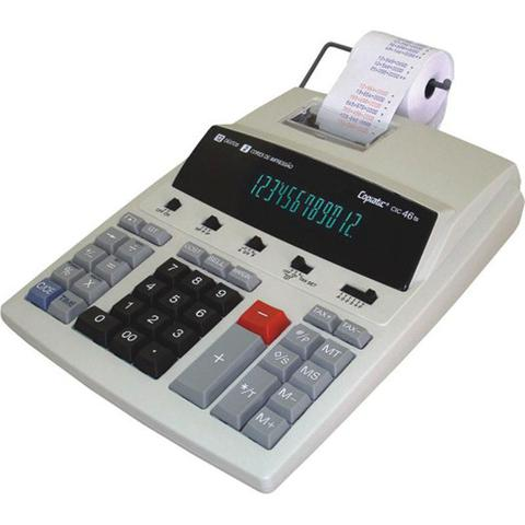 Imagem de Calculadora Mesa Bobina Impressão Copiatic 46 Ts Bege Menno