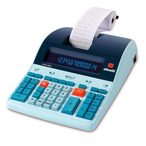 Imagem de Calculadora Profissional de Mesa 14 Dígitos Display LCD Olivetti Impacto Paralelo M80 - LOGOS 804B