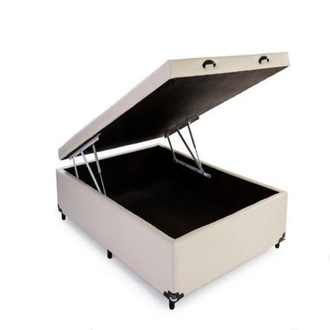 Imagem de Cama Box Bau Casal 138 X 188  Suede Cinza
