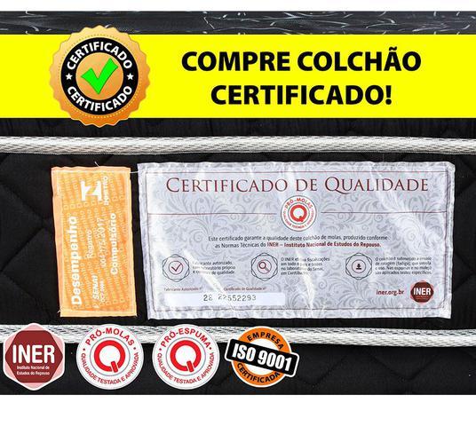 Imagem de Cama Box Baú Queen (Box + Colchão)Molas Ensacadas Com Pillow BF Colchões 158x198x64cm