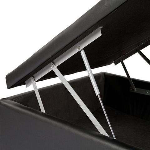 Imagem de Cama Box Bau Solteiro Luxo 88 X 188 Suede Preto