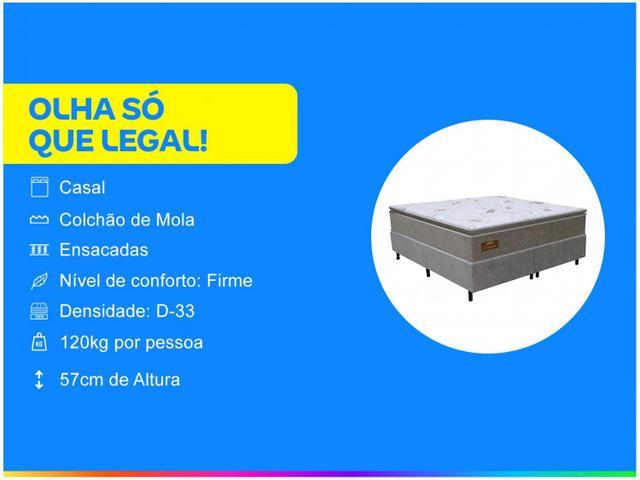Imagem de Cama Box Casal (Box + Colchão) Gazin