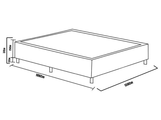 Imagem de Cama Box Casal (Box + Colchão) Plumatex