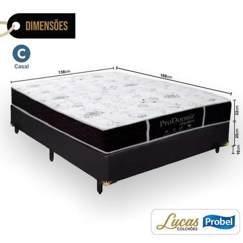 Imagem de Cama Box Casal + Colchão De Molas - Probel - Prodormir Sleep Black 138cm