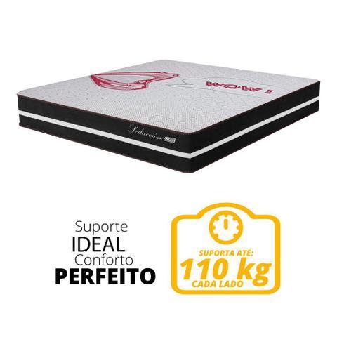 Imagem de Cama Box Casal Colchão Molas Ensacadas Seducción Preto / Branco 138x188x68cm