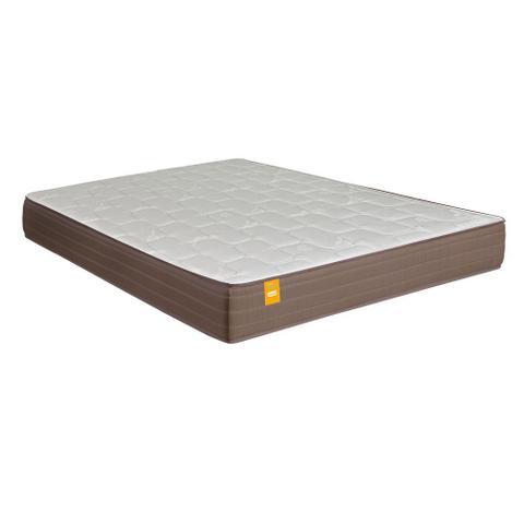 Imagem de Cama Box Casal Colchão Molas Verticoil e Box Marrom Cobalt Inducol 138x188x60cm