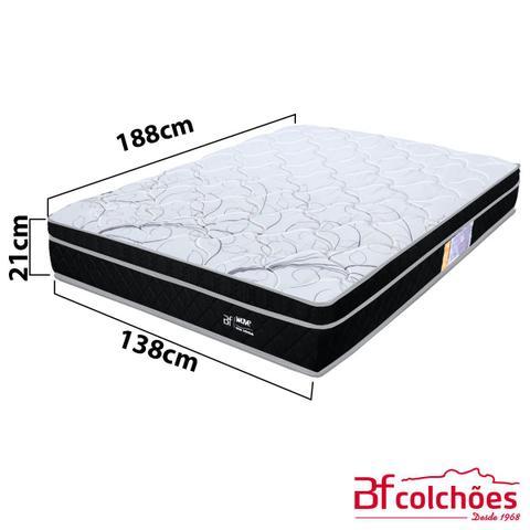 Imagem de Cama Box Casal Molas Ensacadas Pillow Certificado Sonomar 138x188x57cm - BF Colchões