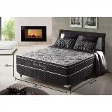 Imagem de Cama box casal padrão com molas ensacadas relax adorabile preto - 138x188x63cm