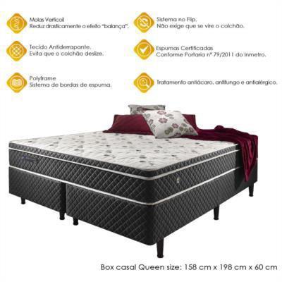 6142a205d Imagem de Cama box casal queen size soft comfort preto - antiácaro