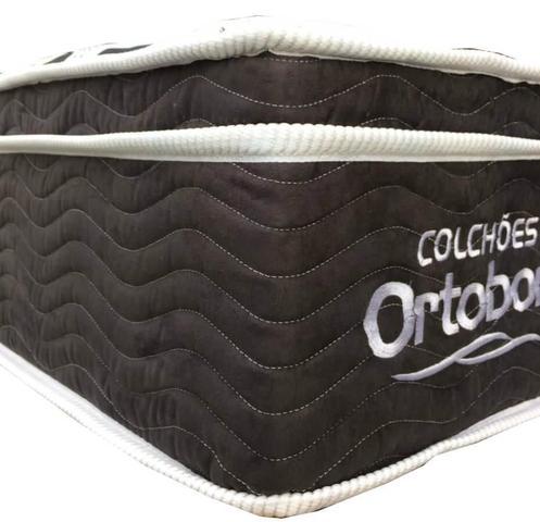 Imagem de Cama Box + Colchão Casal Ortobom Exclusive 138x188x55