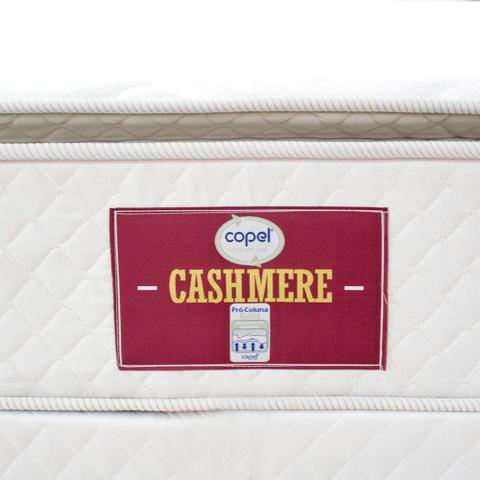 Imagem de Cama box + Colchão Cashmere Solteiro Pillow - Molas Ensacadas - 78x188