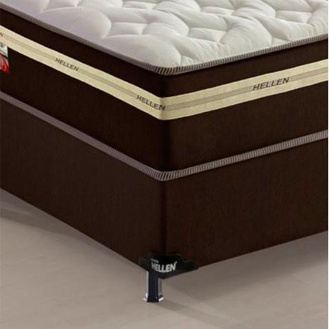 Imagem de Cama Box + Colchão de Mola King Plus 193x203 Xicoria Confort Hellen