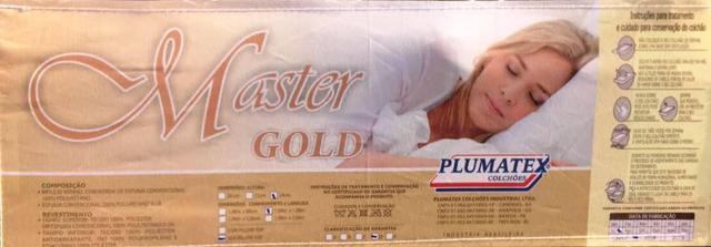 Imagem de Cama Box + Colchão Solteiro Master Gold Plumatex Colchões 88x188x60