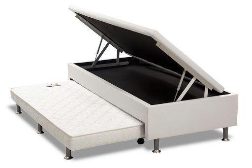 Imagem de Cama Box Com Baú E Bi-Cama 3 Em 1 Sintético Branco Solteiro (88X188X30Cm)