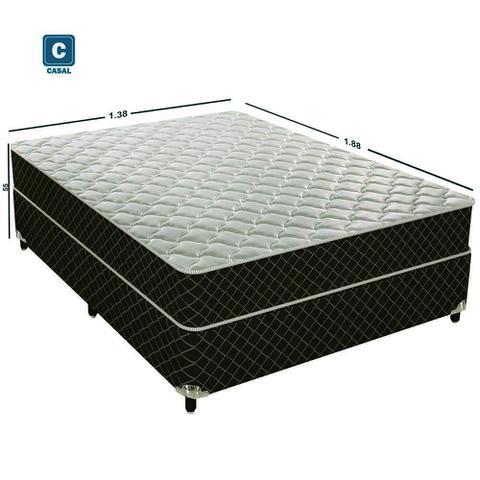 Imagem de Cama Box Conjugado Casal Estrutura Ortopédica 138x188x43