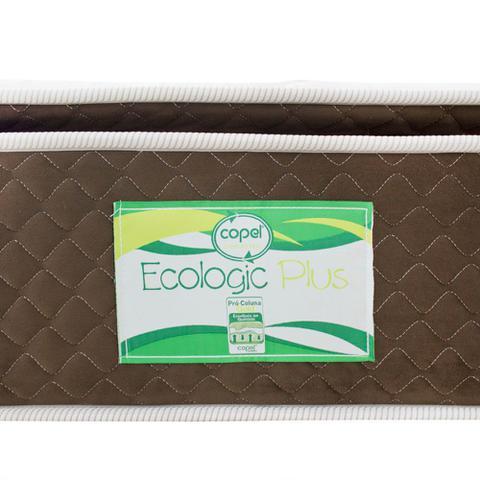 Imagem de Cama Box Cosmopolita Casal Antigo + Colchão Ecologic Plus Casal Antigo - Molas Ensacadas - 128x188