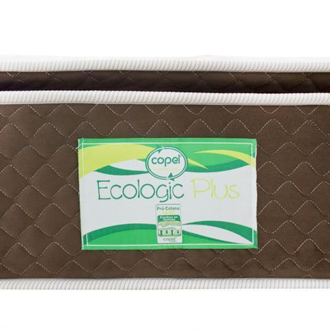 Imagem de Cama Box Cosmopolita Solteiro Americano + Colchão Ecologic Plus Solteiro Americano - Molas Ensacadas - 096x203
