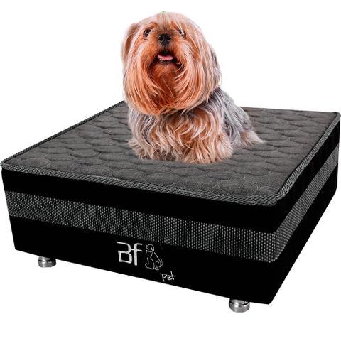 Imagem de Cama Box Pet Com Lençol Impermeável Branco Para Cachorros e Gatos 60x60x24cm - Caminha Pet - BF Colchões