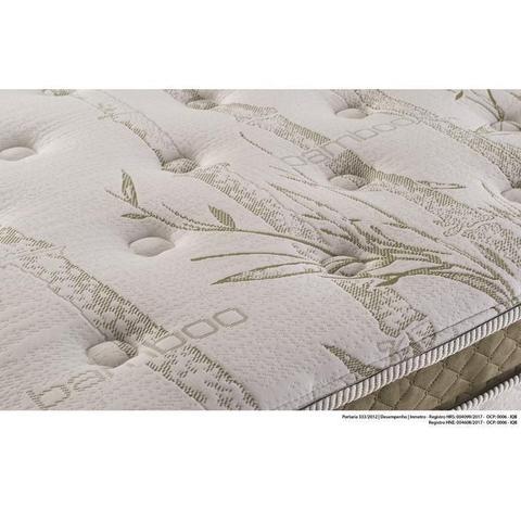 Imagem de Cama Box Queen Herval Imperatore Eco Bamboo, Molas Ensacadas, 73 x 158 x 198 cm