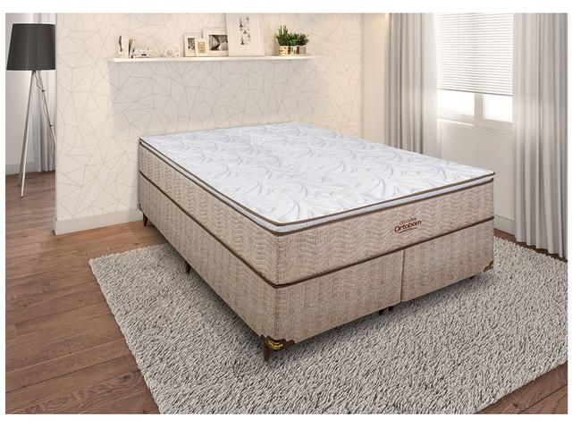 Imagem de Cama Box Queen Size (Box + Colchão) Ortobom