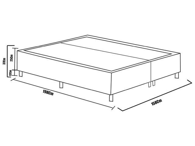 Imagem de Cama Box Queen Size (Box + Colchão) Plumatex Molas