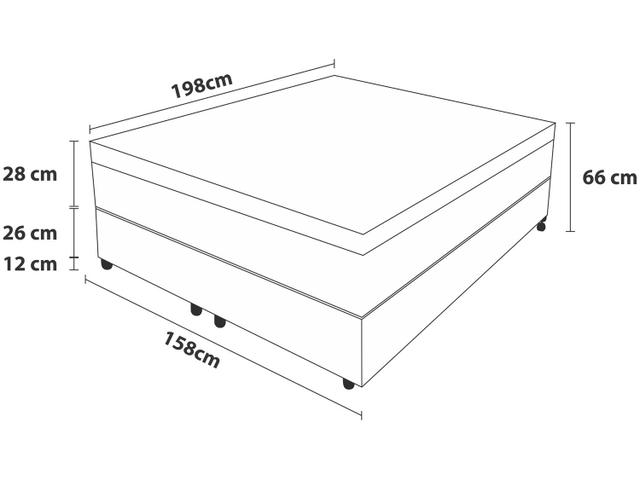 Imagem de Cama Box Queen Size (Box + Colchão)