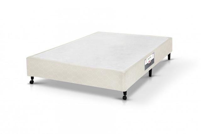 Imagem de Cama Box Simples Castor Casal Poli Bege 128x188x27cm